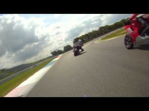 Ducati Diavel on track