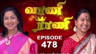 Vaani Rani : Episode 478 - 17th October 2014