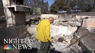 California Wildfires: Couple Awakes To Leaping Flames | NBC Nightly News - NBCNEWS