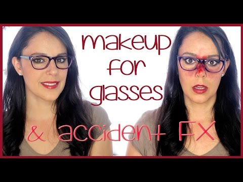 Intense make for glasses with an FX final, special effects