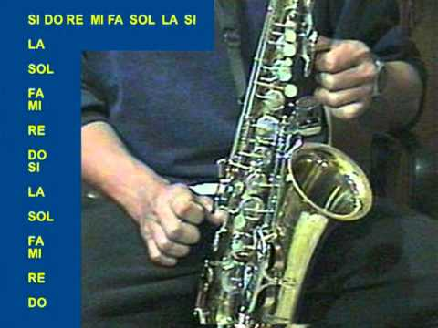 Escalas en Sax Alto (1a. Parte)  IN OUT STUDIO CD. ACUÑA