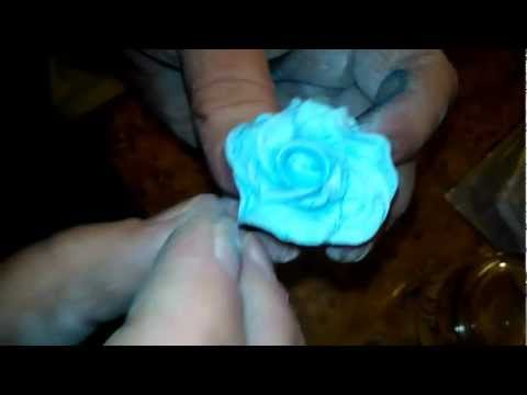 Róża z masy plastycznej (tworzenie ozdoby) #1