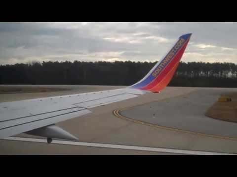 Southwest Airlines 737-300 takeoff from Greenville/Spartanburg