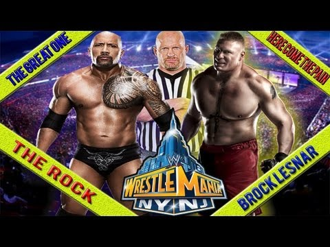 The Rock vs Brock Lesnar  Wrestlemania 29 (special guest Referee Stone Cold Steve Austin WWE '13)