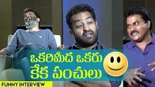 Sunil's super funny interview with NTR & Trivikram | Aravindha Sametha | Indiaglitz - IGTELUGU