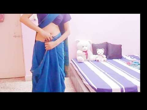 How To Wrap Silk Saree/Thick Pleats Saree Wearing Tutorial/How To Drape Sari
