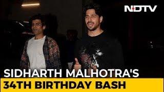 Sidharth Malhotra's Star-Studded 34th Birthday Bash - NDTV