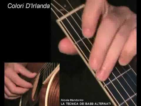 Colori D'Irlanda (Nicola Mandorino) fingerpicking guitar lesson with TAB! Learn to play