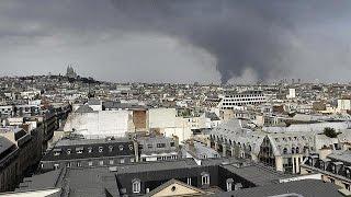 حريق هائل بأحد مستودعات «كورنوف» في باريس
