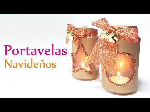 Manualidades para Navidad: PORTAVELAS Navideños - DIY Innova Manualidades