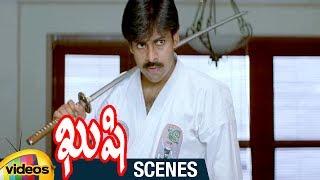 Pawan Kalyan Practicing Sword Fight | Kushi Telugu Movie Scenes | Bhumika | Ali | Mango Videos - MANGOVIDEOS