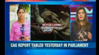 Recycled and expired food packages put for sale, says CAG in report - NEWSXLIVE
