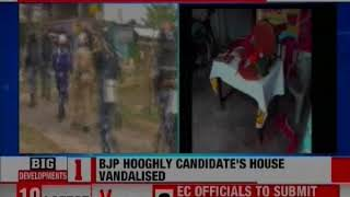 BJP Leader from Hooghly Locket Chatterjee's House Ransacked - NEWSXLIVE