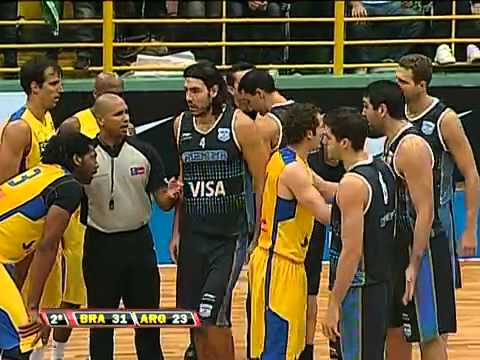 London 2012: Brazil Vs Argentina - basketball players brawl on court - Brasil 91 x 75 Argentina