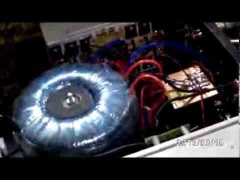 Amplificador caseiro de 3000 watts RMS AB puro com a acabamento profissional.
