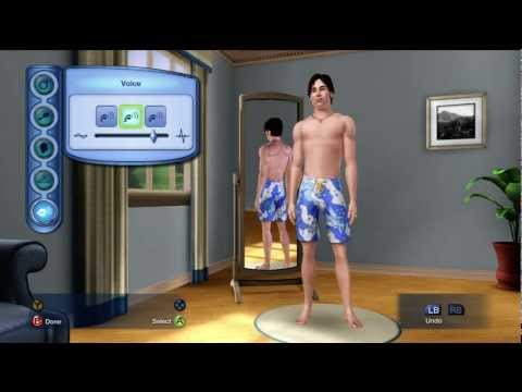The Sims 3 XBOX 360 Gameplay / Lets play part 1 (HD) - Creating a character