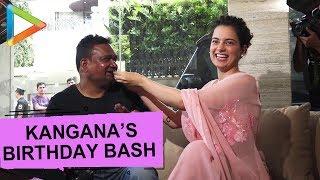 MUST WATCH: Kangana Ranaut celebrates Birthday with Fans and Cameraman - HUNGAMA
