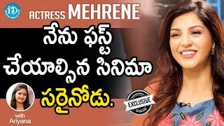 Jawaan Actress Mehreen Exclusive Interview || Talking Movies With iDream #569 - IDREAMMOVIES