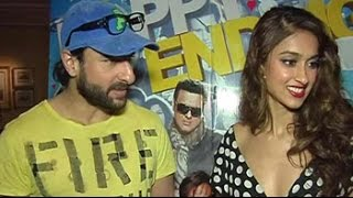 In conversation with Saif and Ileana at premiere of 'Happy Ending' - NDTV