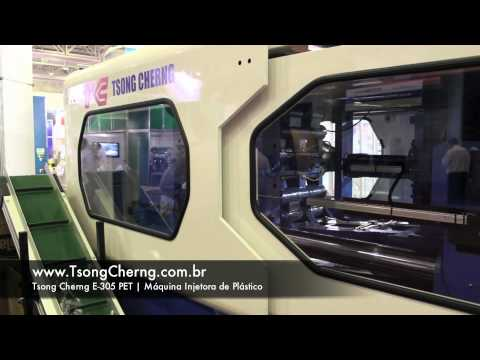 Máquina injetora de plástico TSONG CHERNG modelo E-305 PET na Embala Nordeste 2011