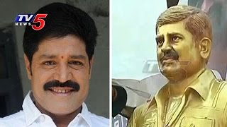 As No Celeb Turns Up – Real Star Srihari Statue Unveiled by Family Members