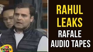Rahul Gandhi Sought Permission To Make Audio Tapes in Lok Sabha | Rafale Deal Audio Tape| Mango News - MANGONEWS