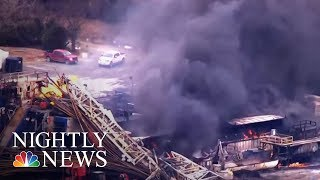 Frantic Search For Missing Workers After Oil Rig Explodes | NBC Nightly News - NBCNEWS