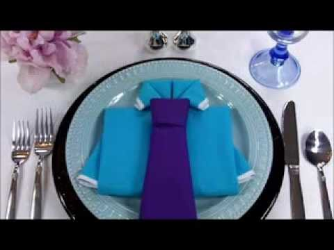 Napkin Folding: Shirt and Tie
