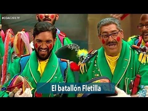 La agrupación El batallón Fletilla llega al COAC 2017 en la modalidad de Coros. En años anteriores (2016) concursaron en el Teatro Falla como La vuelta a Cádiz en 80 mundos, consiguiendo una clasificación en el concurso de Primer premio.