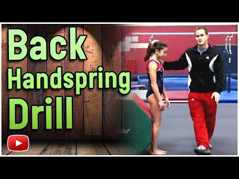 Gymnastics Floor Exercise Skills and Drills - The Back Handspring - Olympic Gold Medalist Paul Hamm
