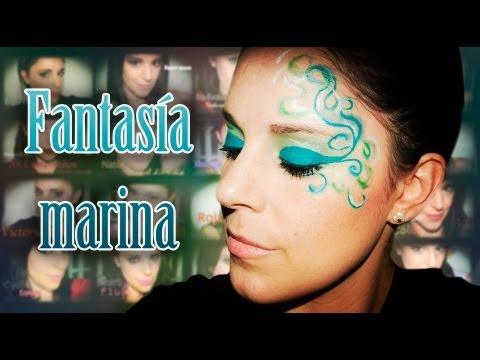 Maquillaje Marina azul Carnaval/Fantasía, Fantasía #20 | Silvia Quiros