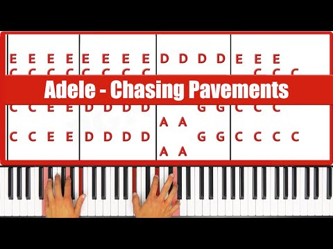 How To Play Chasing Pavements Adele Piano Tutorial Lesson (Easy)