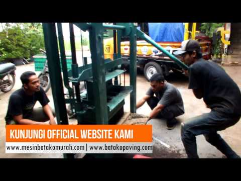 Trial Mesin Cetak Batako Semi-Manual