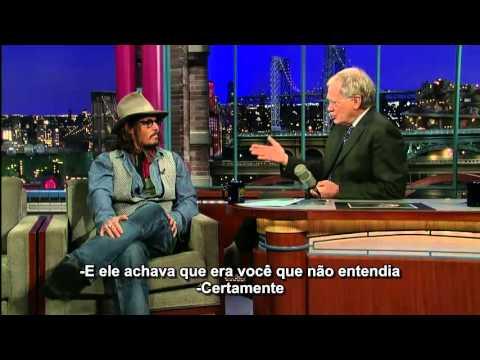 Johnny Depp imita Al Pacino no The Late Show[Legendado]