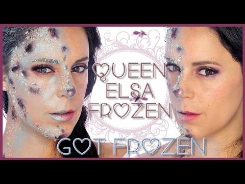 Queen Elsa got Frozen makeup effect, special effects FX