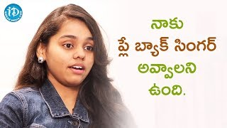 I Want To Become A Playback Singer - Shanmukha Priya || Talking Movies With iDream - IDREAMMOVIES