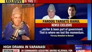 Farooq Abdullah slams Rahul Gandhi and the UPA government - NEWSXLIVE
