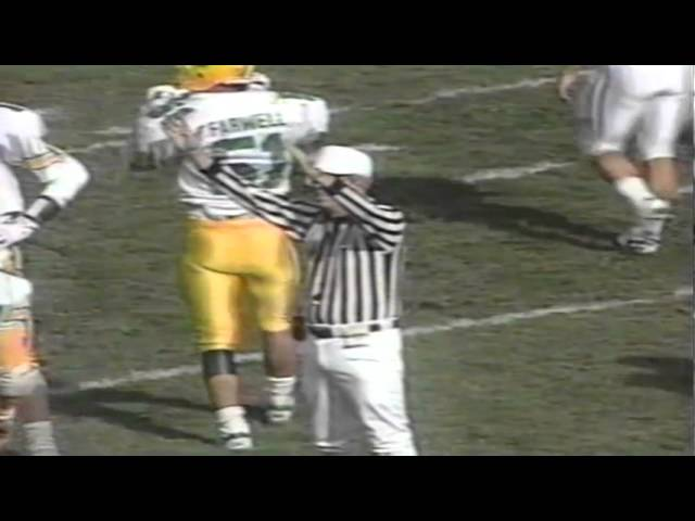 BYU blocks a field goal attempt by Oregon kicker Greg McCallum 11-04-1989
