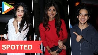 SPOTTED: Ishaan Khattar-Janhvi Kapoor | Shilpa Shetty at Soho house - HUNGAMA