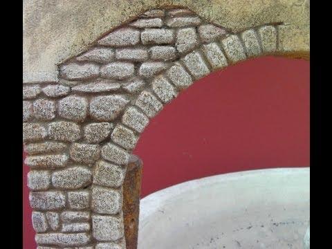 IMITACIÓN DE ARCO DE PIEDRA PARA PAREDES - IMITATION STONE ARCH WALL