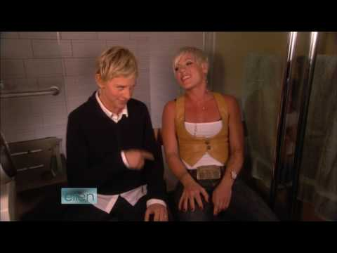 P nk & Ellen DeGeneres So What Bathroom Concert Series HD