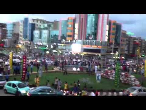 Amazing Addis Ababa view and celebration after South Africa win