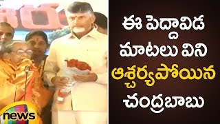 Chandrababu Naidu Shocked By This Old Woman's Superb Speech | AP Latest News | Mango News - MANGONEWS