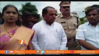 Minister Indrakaran Reddy Inspects Bridge Construction Works at Jannaram | Mancherial | iNews - INEWS