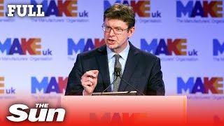 Business Secretary Greg Clark speech on Brexit and Honda closure (FULL) - THESUNNEWSPAPER