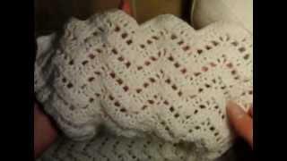 0  Как связать ажурный шарф, образец