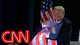 Trump's flag hug goes viral - CNN
