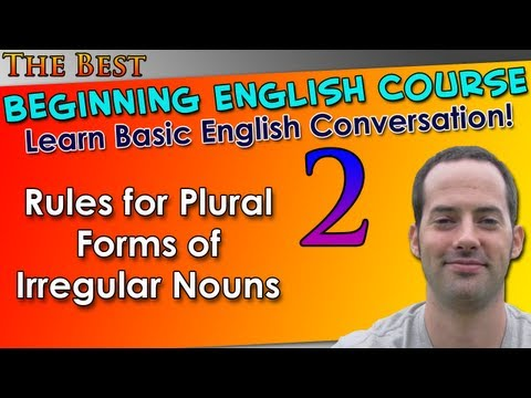 Beginning English - 2 - Singular & Plural Nouns 2 - Basic English Grammar For Beginning Learners
