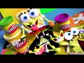 Play Doh Spongebob Squarepants Playset Mold a Sponge Halloween costume Nickelodeon playdough