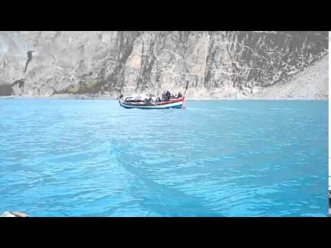 Journey through Ata Abad lake Gilgit Baltistan